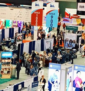 A bird's-eye-view of Sycamore's booth at NCEA 2019