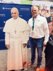 Sycamore's Jim Knoepfel with the Holy Father!