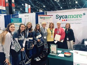 Notre Dame Academy Visited Sycamore's booth at NCEA 2019